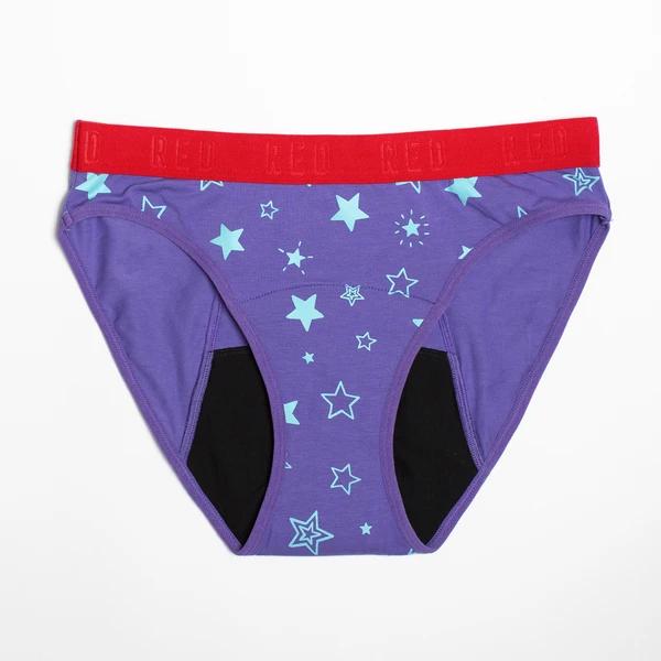 Red by modibodi Hipster Bikini Pantalon période preuve jeunesse noire 12-14 BNWT